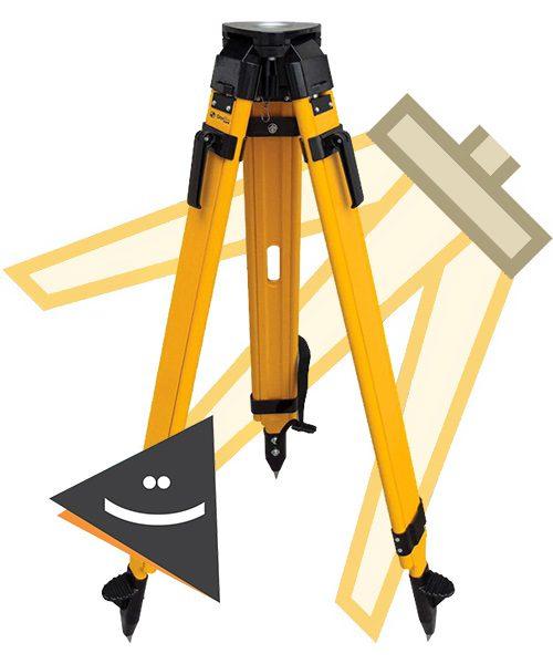 سه پایه چوبی طرح تریمبل TRIMBLE دو قفله